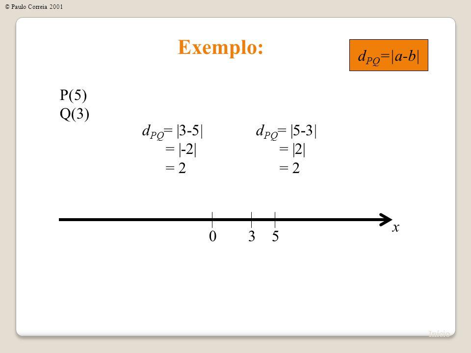 x Distância entre dois pontos no Espaço y z P(a 1,b 1,c 1 ) Q(a 2,b 2,c 2 ) P Q a1a1 b1b1 c1c1 a2a2 b2b2 c2c2 .