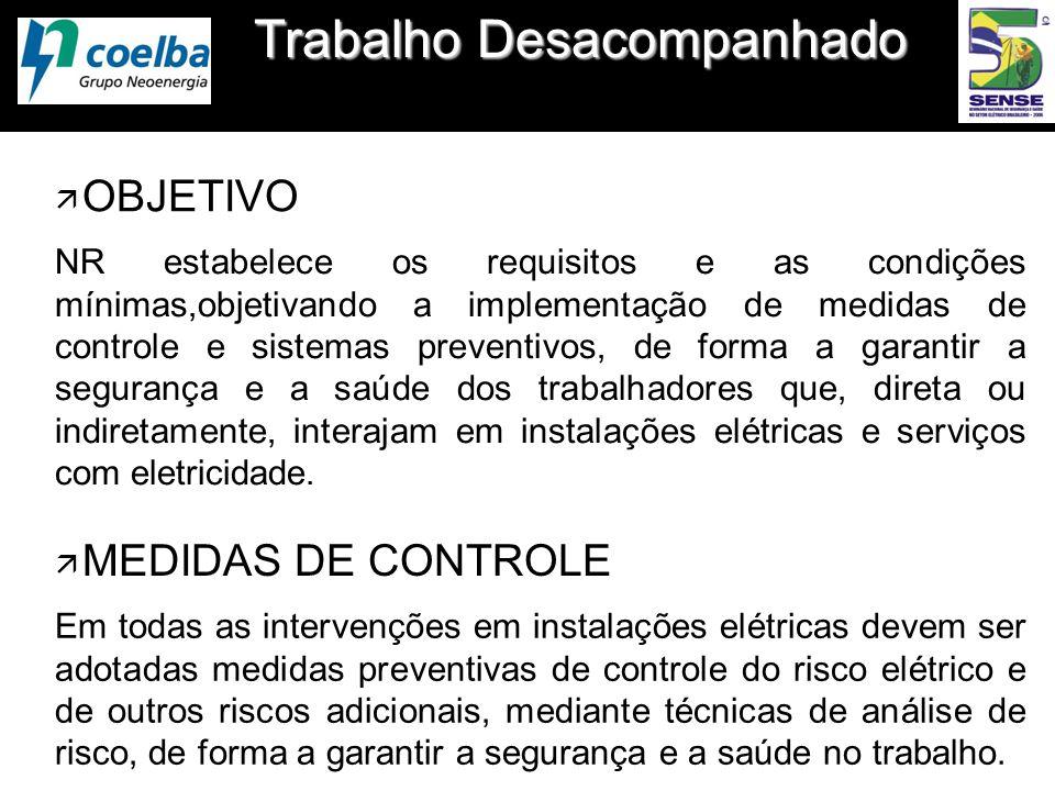 Trabalho Desacompanhado ä OBJETIVO NR estabelece os requisitos e as condições mínimas,objetivando a implementação de medidas de controle e sistemas pr