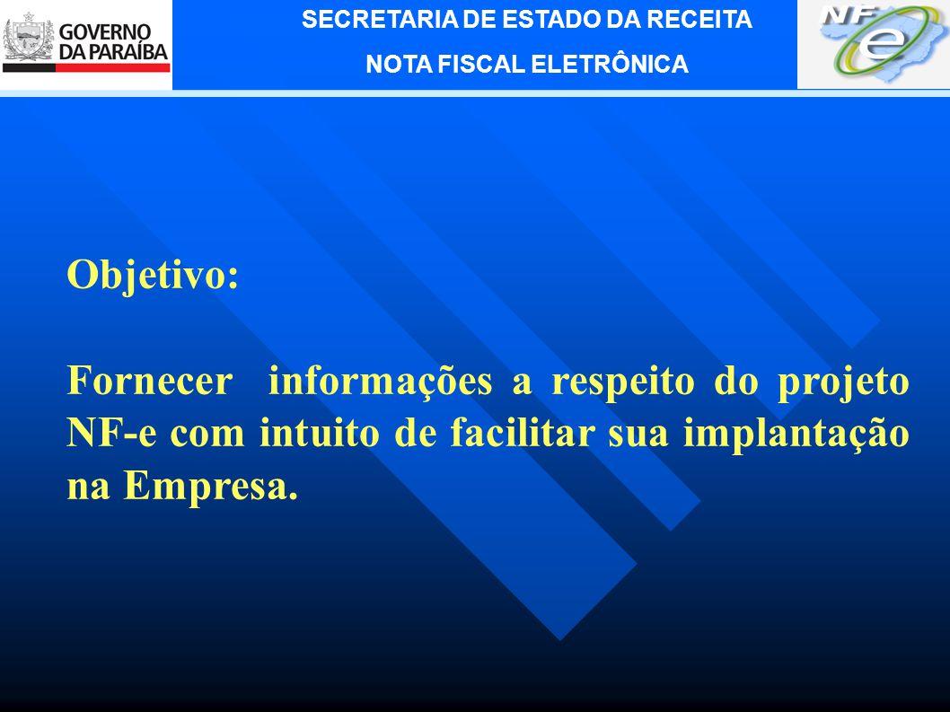 SECRETARIA DE ESTADO DA RECEITA NOTA FISCAL ELETRÔNICA Palestrante: Lecivaldo Cavalcante L.