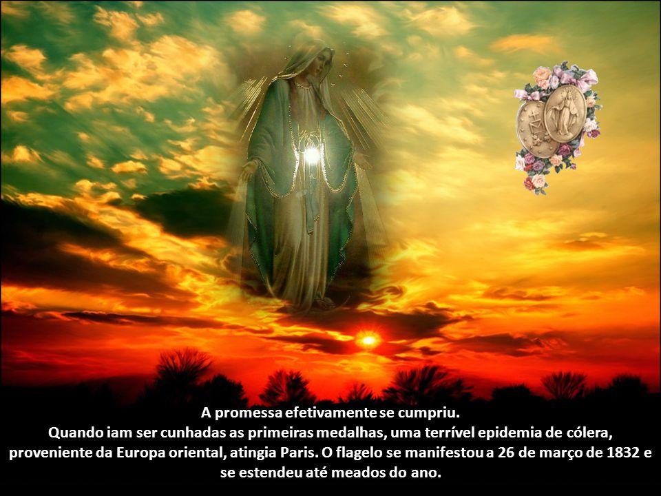 """Foi em 1830 que Nossa Senhora apareceu, em Paris, a Santa Catarina Labouré, então jovem religiosa, e lhe ensinou a devoção da Medalha Milagrosa. """"Faze"""