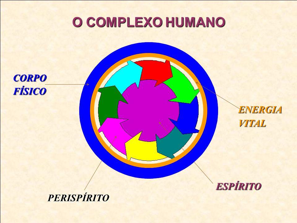 METABOLIZAÇÃO FLUIDOSENERGIAS VIBRAÇÕES E PENSAMENTOS No encarnado, a absorção das energias, fluidos, vibrações e pensamentos ocorre automaticamente, sendo que o perispírito processa esse material absorvido, distribuindo nos seus componentes e irradiando parte dele ao derredor do corpo físico, o que constitui nosso hálito mental , aura , ou esteira psíquica, em suma, uma emissão energética automática.