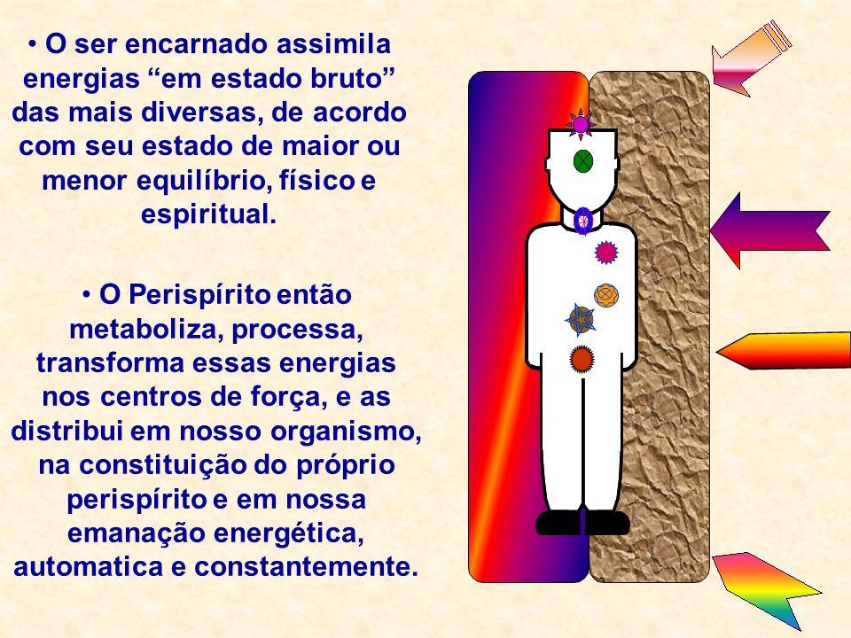 """O ser encarnado assimila energias """"em estado bruto"""" das mais diversas, de acordo com seu estado de maior ou menor equilíbrio, físico e espiritual. O P"""