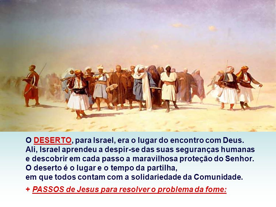 No Evangelho, Cristo realiza a profecia da primeira leitura, alimentando o povo com a Multiplicação dos Pães. (Mt 14,13-21) Seguido por uma imensa mul