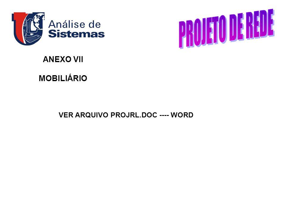 ANEXO VII MOBILIÁRIO VER ARQUIVO PROJRL.DOC ---- WORD