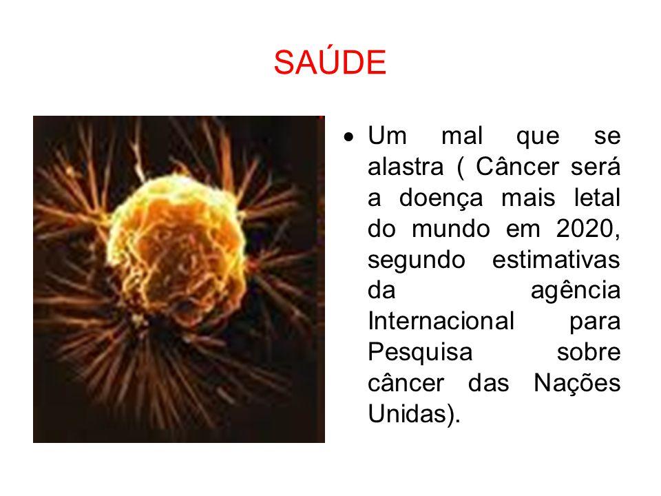 SAÚDE  Um mal que se alastra ( Câncer será a doença mais letal do mundo em 2020, segundo estimativas da agência Internacional para Pesquisa sobre cân