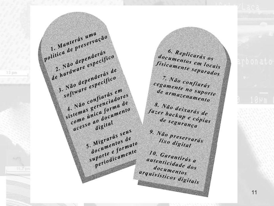 Os 10 mandamentos da preservação digital 11