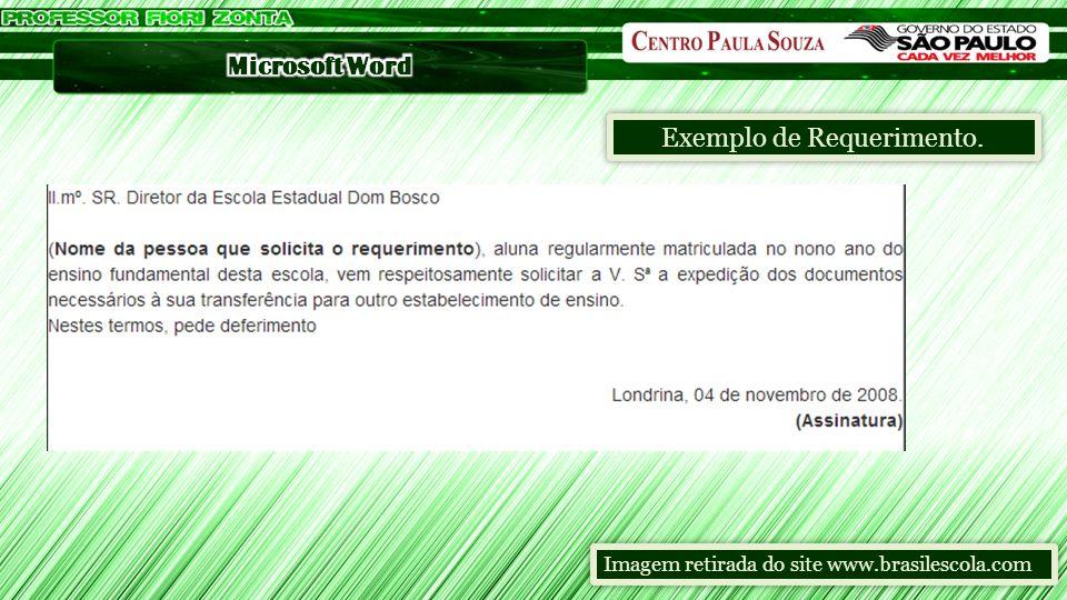 Exemplo de Requerimento. Imagem retirada do site www.brasilescola.com