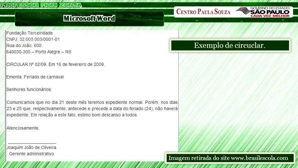 Exemplo de circuclar. Imagem retirada do site www.brasilescola.com