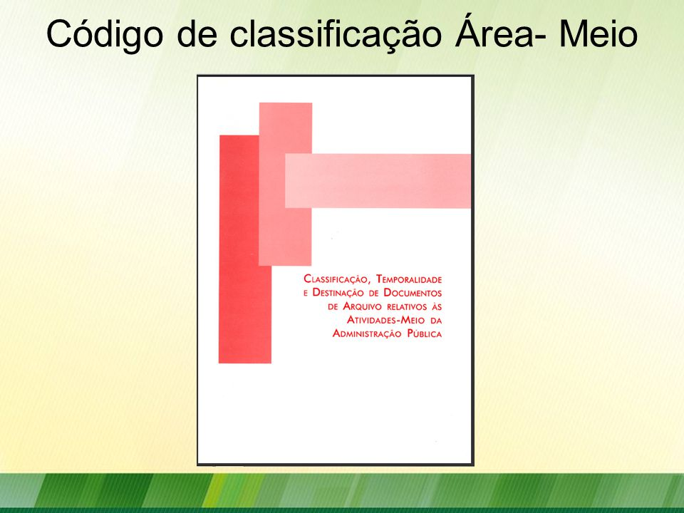 Código de classificação Área- Meio