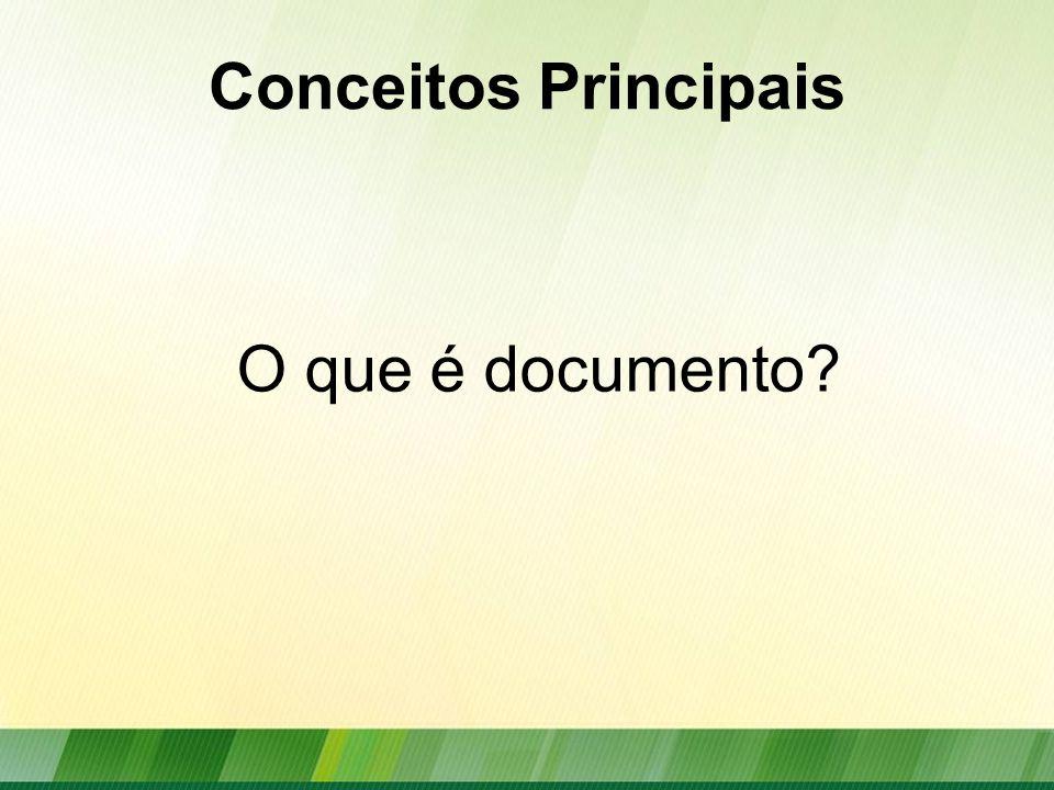 Conceitos Principais O que é documento?