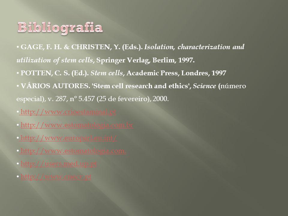 GAGE, F.H. & CHRISTEN, Y. (Eds.).