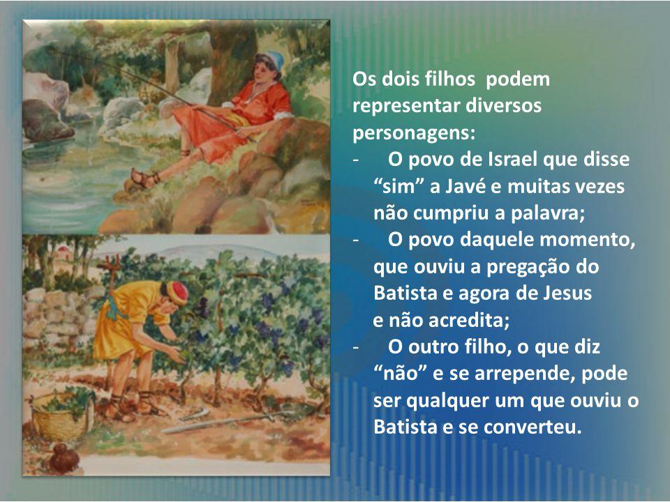 Jesus aponta publicanos e prostitutas, que são os pecadores segundo o judaísmo da época.