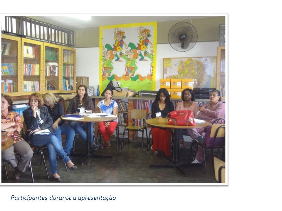 Participantes durante a apresentação