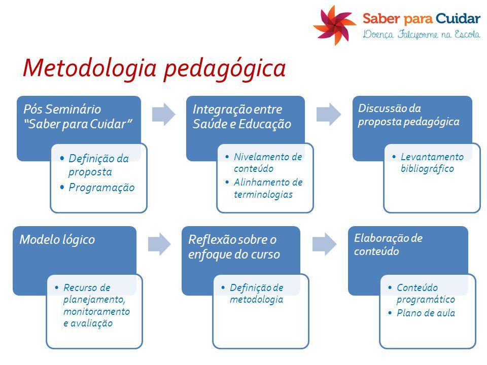 """Pós Seminário """"Saber para Cuidar"""" Definição da proposta Programação Integração entre Saúde e Educação Nivelamento de conteúdo Alinhamento de terminolo"""