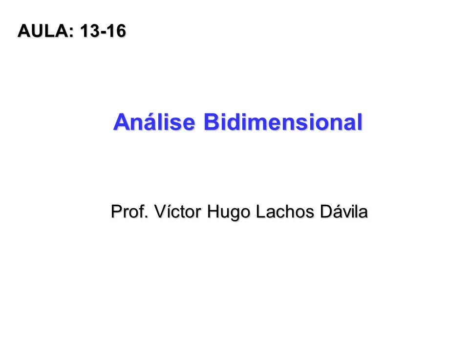 Análise Bidimensional Prof. Víctor Hugo Lachos Dávila AULA: 13-16