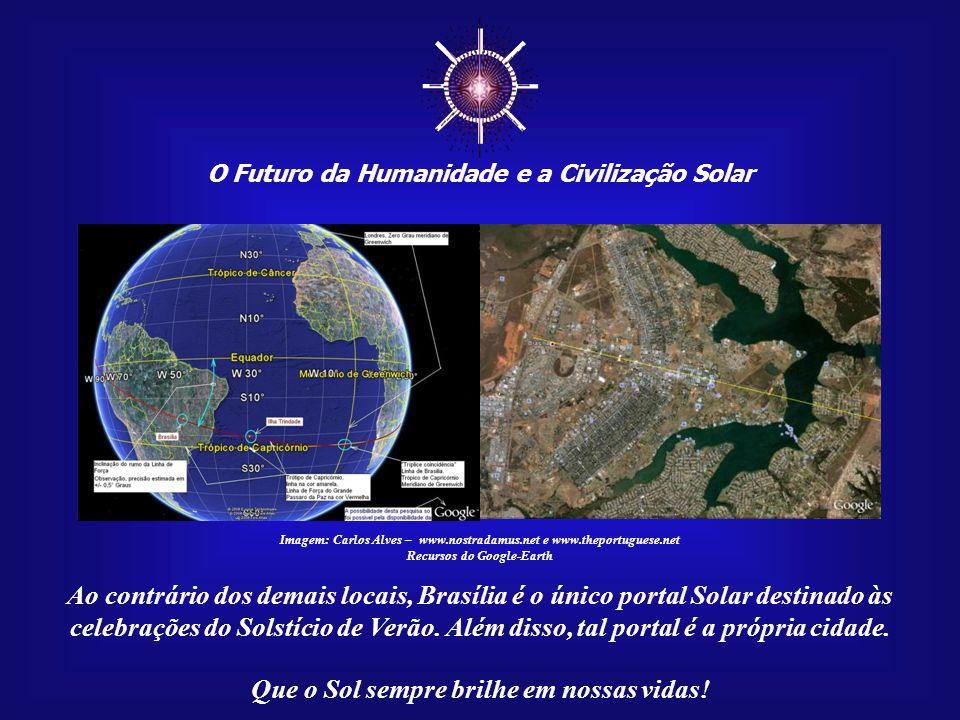 ☼ O Futuro da Humanidade e a Civilização Solar Que o Sol sempre brilhe em nossas vidas! Imagem: Portais do Sol na América do Sul Estas três imagens mo
