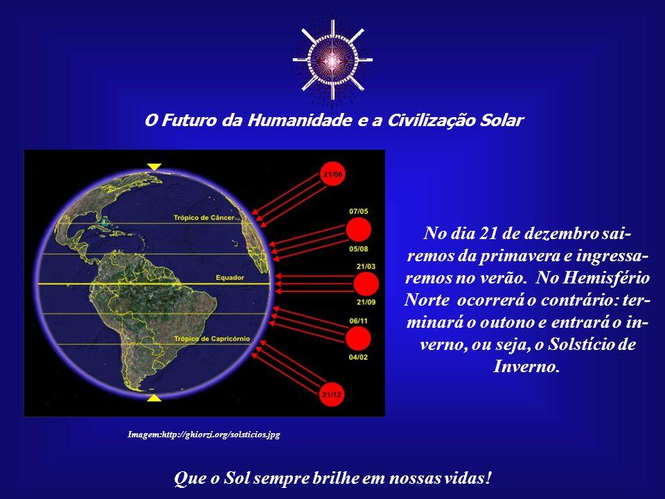 """☼ O Futuro da Humanidade e a Civilização Solar Que o Sol sempre brilhe em nossas vidas! No próximo dia 21 de dezem- bro de 2009 ocorrerá a """"Grande Fes"""