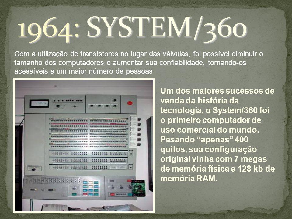 Com a utilização de transístores no lugar das válvulas, foi possível diminuir o tamanho dos computadores e aumentar sua confiabilidade, tornando-os ac