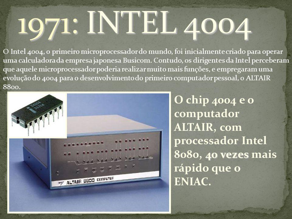 O Intel 4004, o primeiro microprocessador do mundo, foi inicialmente criado para operar uma calculadora da empresa japonesa Busicom. Contudo, os dirig