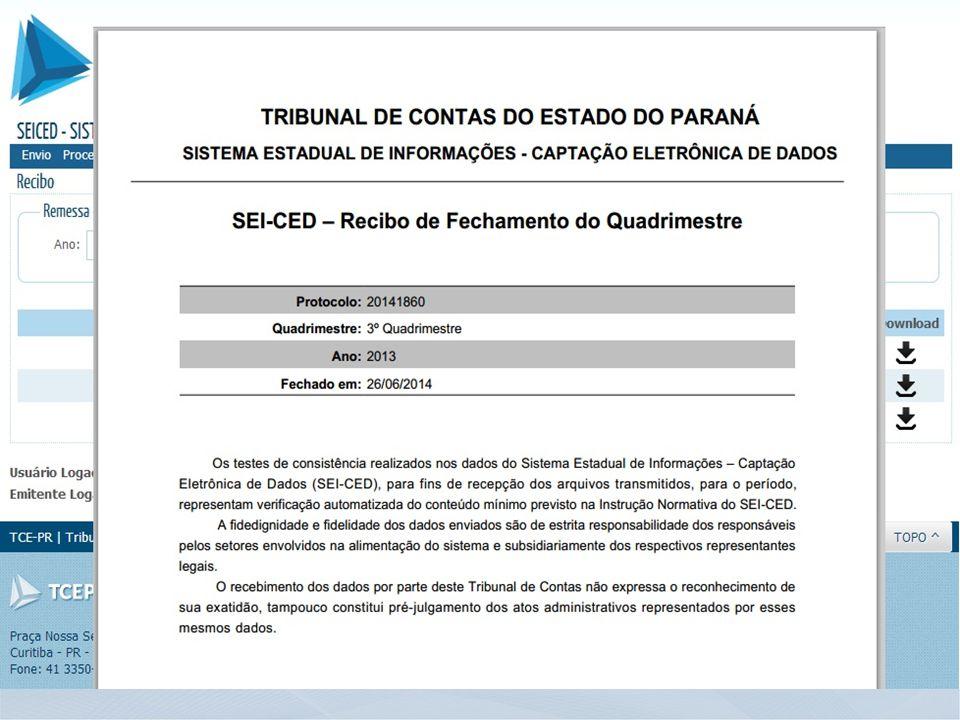 www.tce.pr.gov.br – Canal de Comunicação tcprdce@tce.pr.gov.br Telefone: (41) 3350-1740 Obrigado!