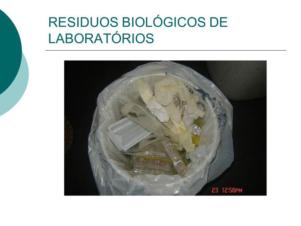 RESIDUOS BIOLÓGICOS GERADOS NO CAMPI DA UFRGS  Peças Anatômicas,fetos  Carcaças de camundongo,ratos,coelhos,galinhas  Meios de Cultura,Placas de cu