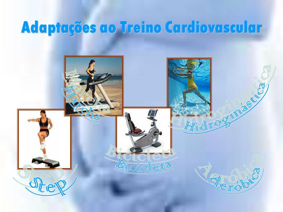 Adaptações ao Exercício Treino Cardiovascular Indicações gerais:  Alteração do aporte sanguíneo;  ↑ Ritmo Cardíaco;  > Volume de Sangue  Anemia; 