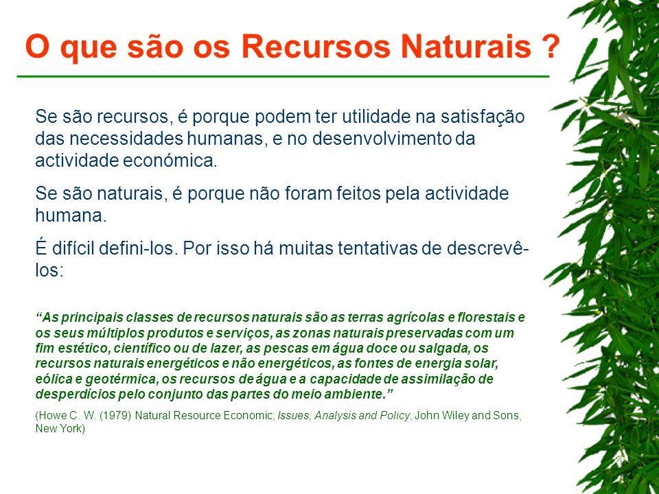O que são os Recursos Naturais .