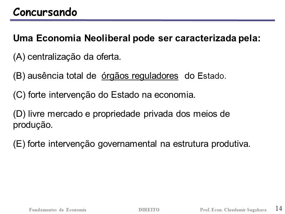 Concursando 14 Fundamentos de EconomiaDIREITO Prof.