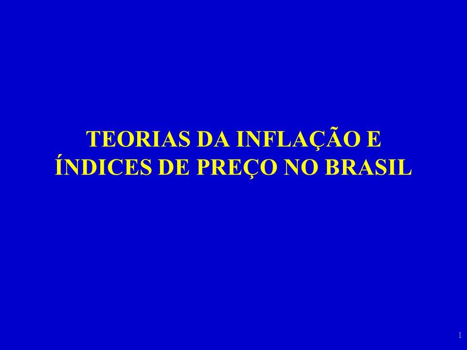 1 TEORIAS DA INFLAÇÃO E ÍNDICES DE PREÇO NO BRASIL