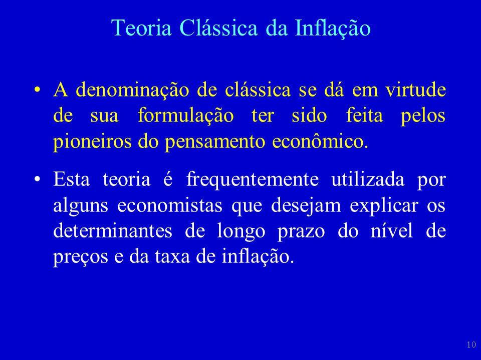 10 A denominação de clássica se dá em virtude de sua formulação ter sido feita pelos pioneiros do pensamento econômico. Esta teoria é frequentemente u