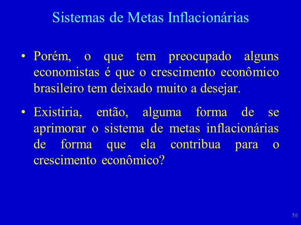 56 Porém, o que tem preocupado alguns economistas é que o crescimento econômico brasileiro tem deixado muito a desejar. Existiria, então, alguma forma