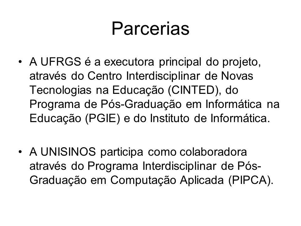 Equipe proponente Rosa Maria Vicari (IA, OA) Liane Tarouco (OA, Redes) Raymundo Ferreira Filho (OA, Redes, TVDigital) João Carlos Gluz (IA, Redes, TVDigital)