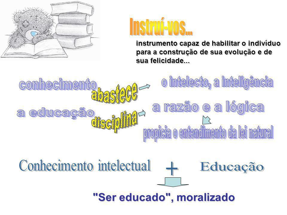 instrumento capaz de habilitar o indivíduo para a construção de sua evolução e de sua felicidade...