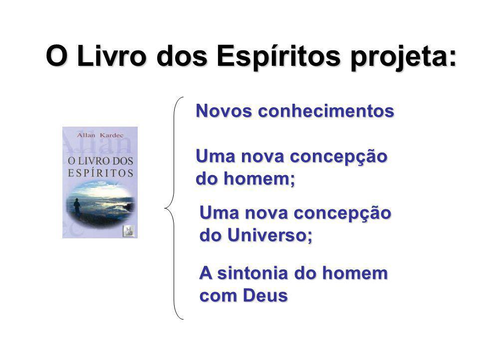 O Livro dos Espíritos projeta: Novos conhecimentos Uma nova concepção do homem; A sintonia do homem com Deus Uma nova concepção do Universo;
