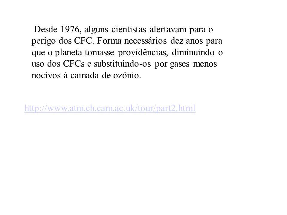 Desde 1976, alguns cientistas alertavam para o perigo dos CFC.