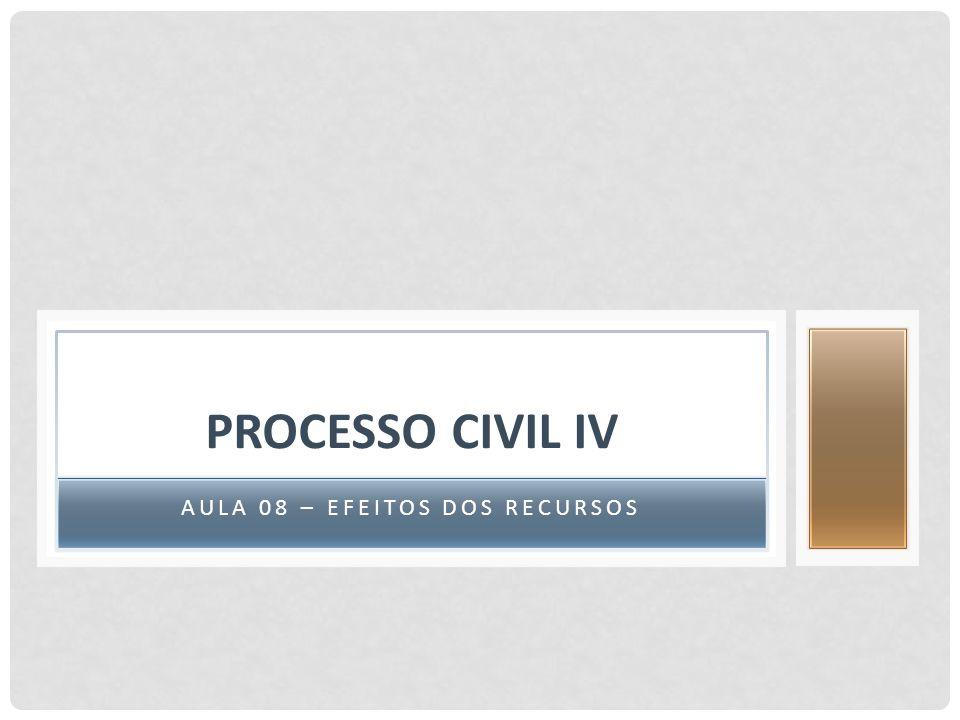 AULA 08 – EFEITOS DOS RECURSOS PROCESSO CIVIL IV