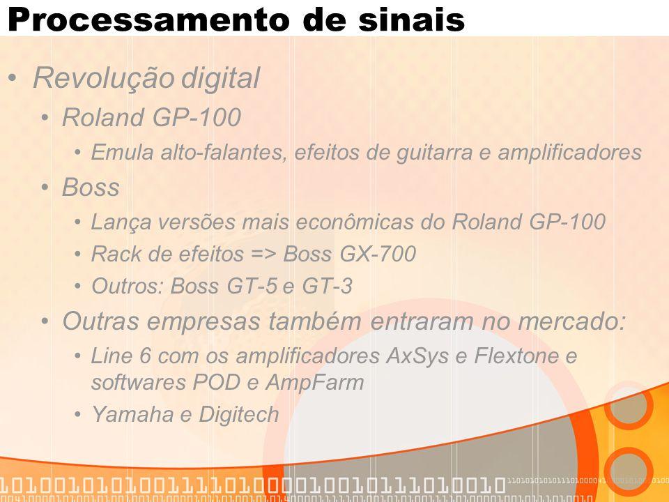 Processamento de sinais Revolução digital Roland GP-100 Emula alto-falantes, efeitos de guitarra e amplificadores Boss Lança versões mais econômicas d