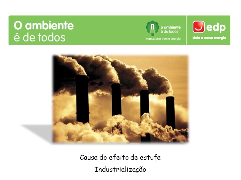 Causa do efeito de estufa Industrialização
