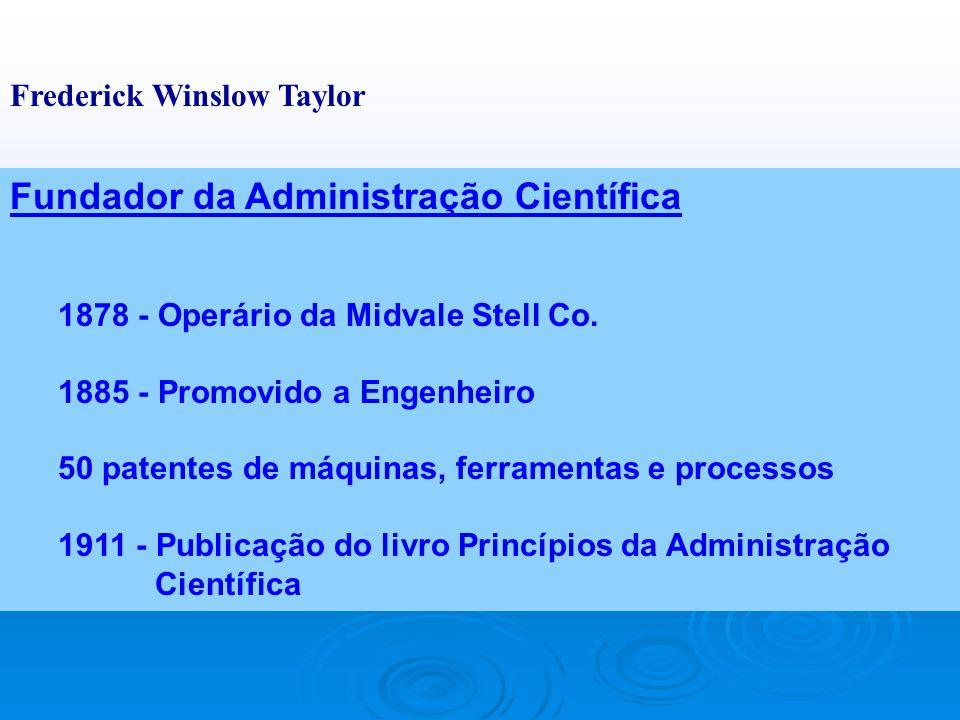 Clássica da Administração Administração Científica Abordagem Clássica da Administração Teoria Clássica Ênfase nas Tarefas Ênfase na Estrutura TAYLOR F