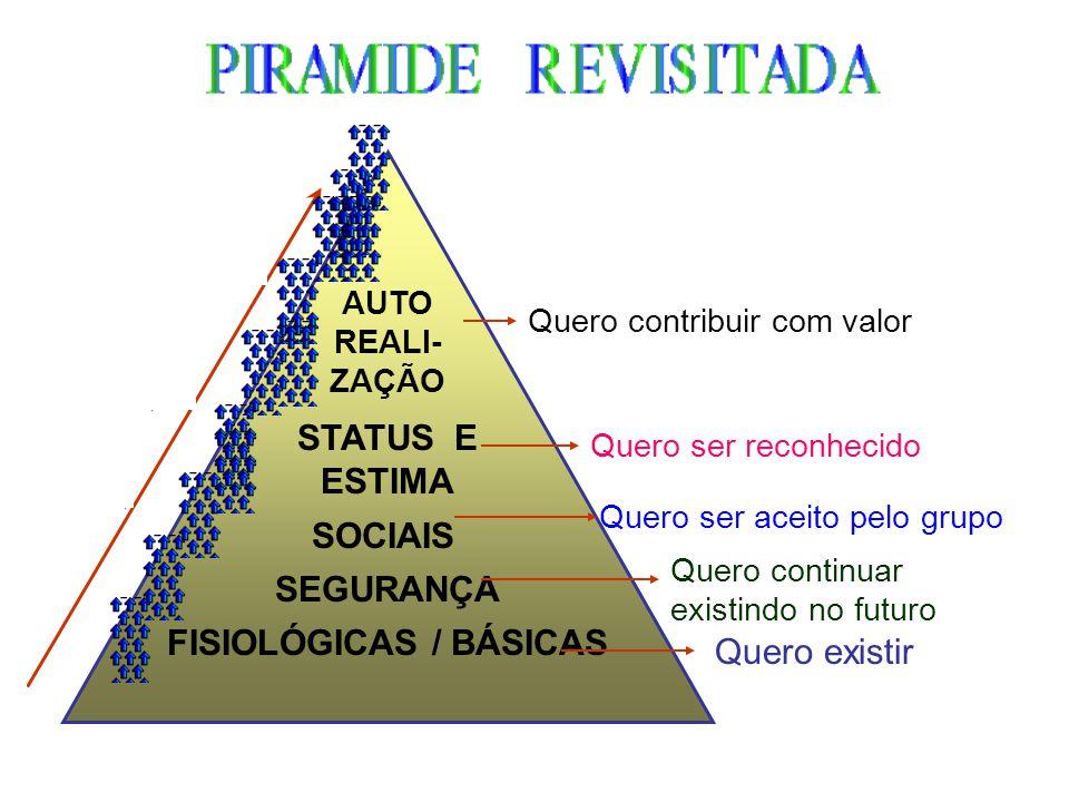 Motivação Homem social e não homo economicus Recompensas sociais, simbólicas Ciclo Motivacional : Equilíbrio Estímulo ou incentivo Necessidade TensãoC