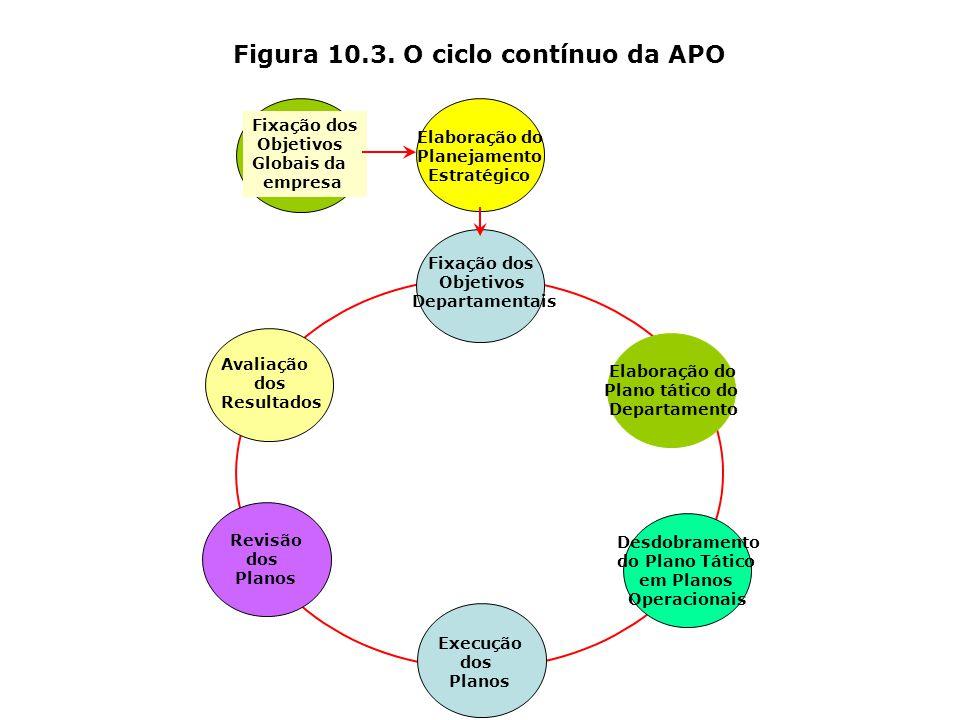 Figura 10.1. O processo participativo e democrático da APO Gerente Subordinado Formulação Conjunta de Objetivos de Desempenho Ação Individual do Geren