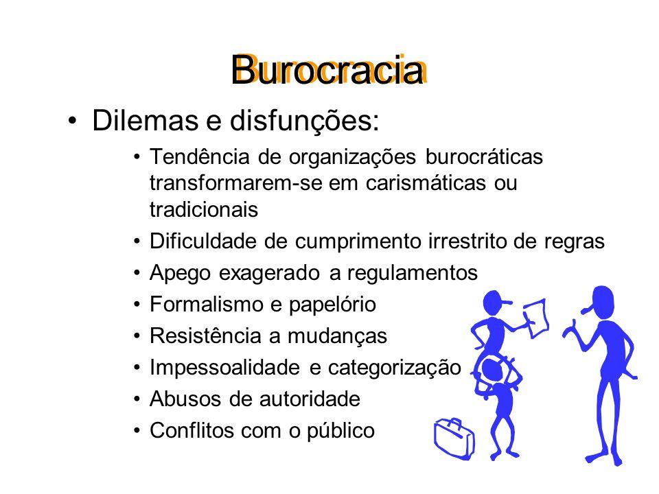 Vantagens da Burocracia Racionalidade. Precisão na definição do cargo e da operação. Rapidez nas decisões. Univocidade de interpretação. Uniformidade