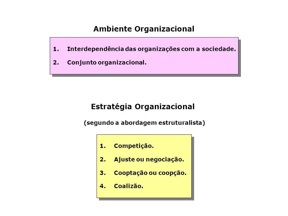 Objetivos Organizacionais 1.Apresentação de uma situação futura. 2.Constituem uma fonte de legitimidade que justifica ações. 3.Servem como padrões par