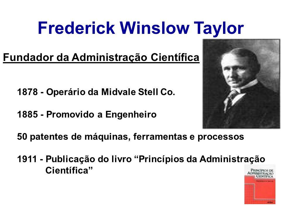 Administração Científica Ênfase nas tarefas.