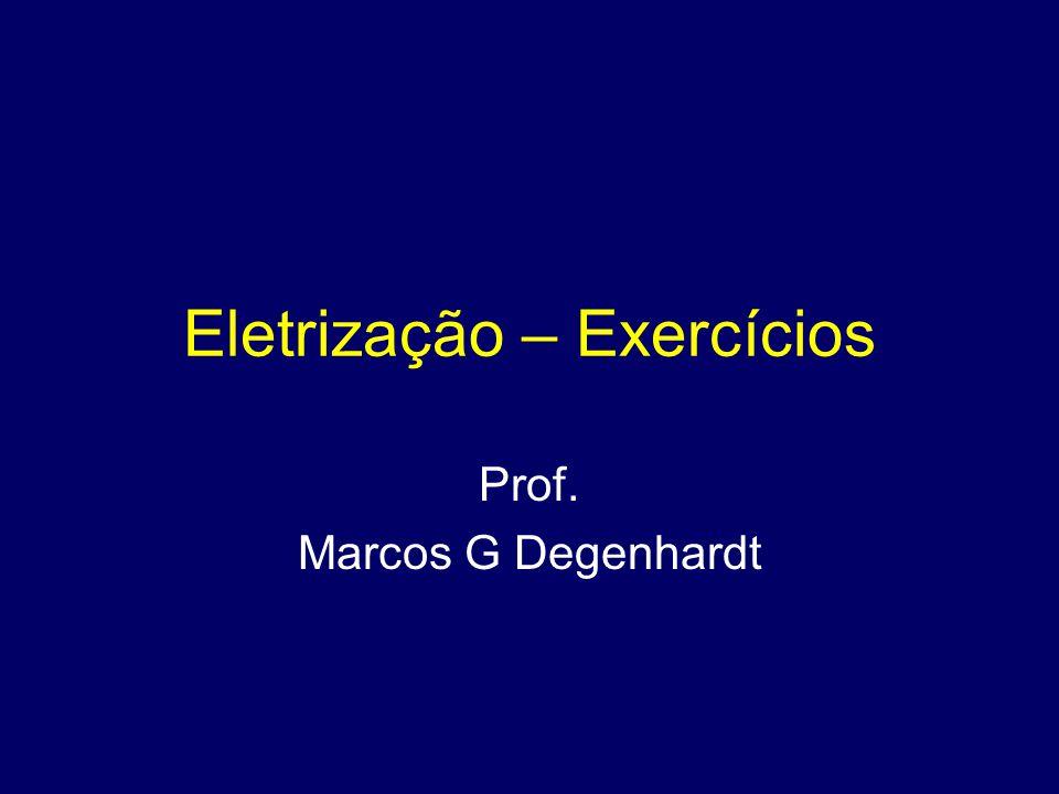 Eletrização – Exercícios Prof. Marcos G Degenhardt