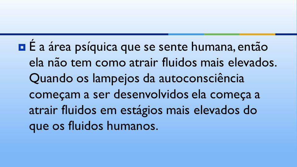  É a área psíquica que se sente humana, então ela não tem como atrair fluidos mais elevados.
