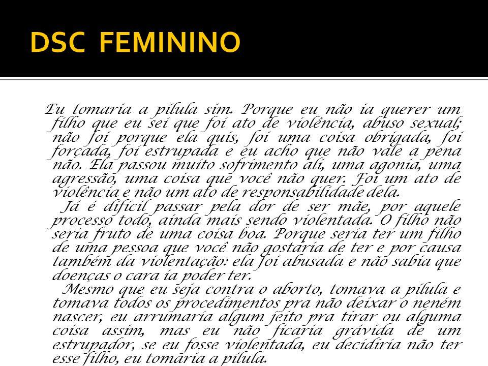 DSC FEMININO Eu tomaria a pílula sim.