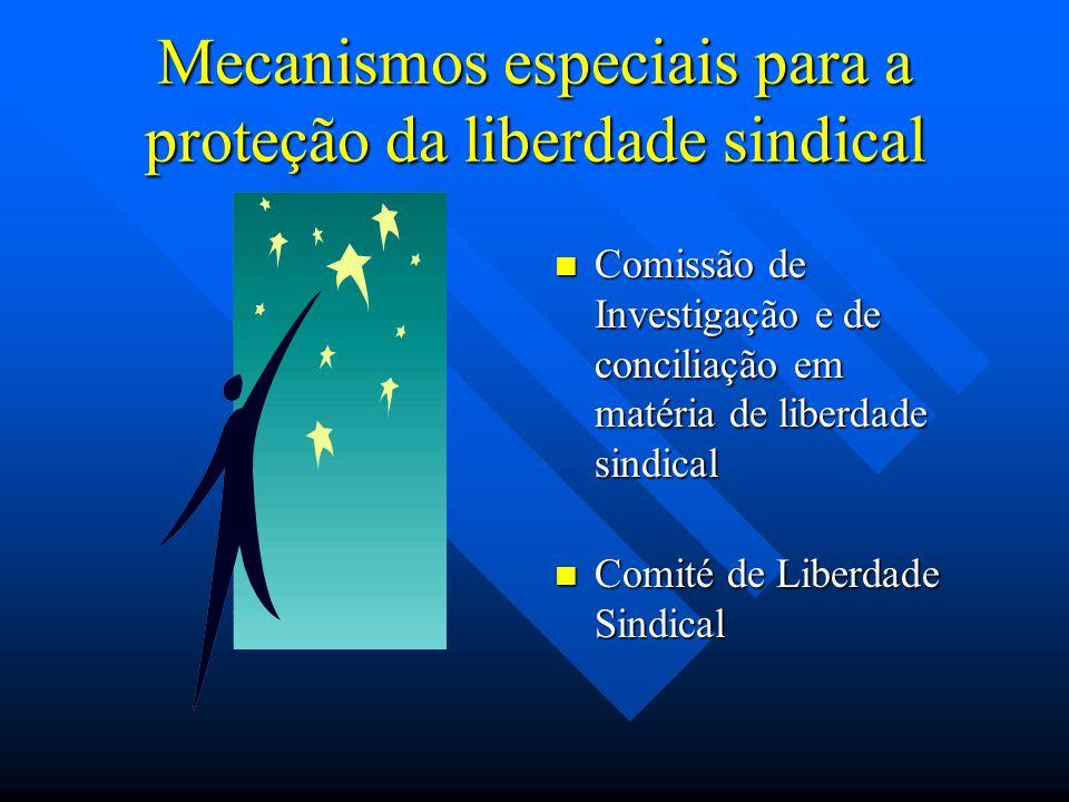 Mecanismos especiais para a proteção da liberdade sindical Comissão de Investigação e de conciliação em matéria de liberdade sindical Comité de Liberd