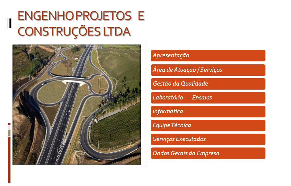 APRESENTAÇÃO APRESENTAÇÃO A ENGENHO é uma empresa especializada em Infra-Estrutura Viária, abrangendo as áreas, Rodoviária, Ferroviária, Aeroviária e Urbana, atuando em Planejamento e Gestão de Transportes.