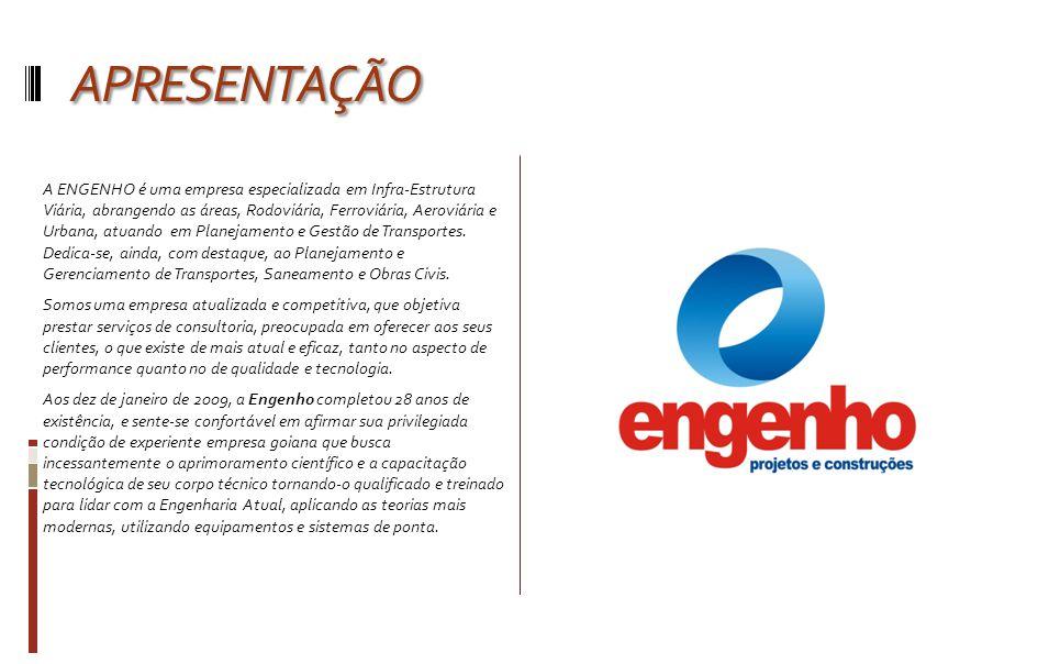 AREA DE ATUAÇÃO AREA DE ATUAÇÃO A ENGENHO está habilitada a prestar serviços de consultoria técnica na Área de Engenharia Civil e, especificamente, na Área de Infra-Estrutura Viária.